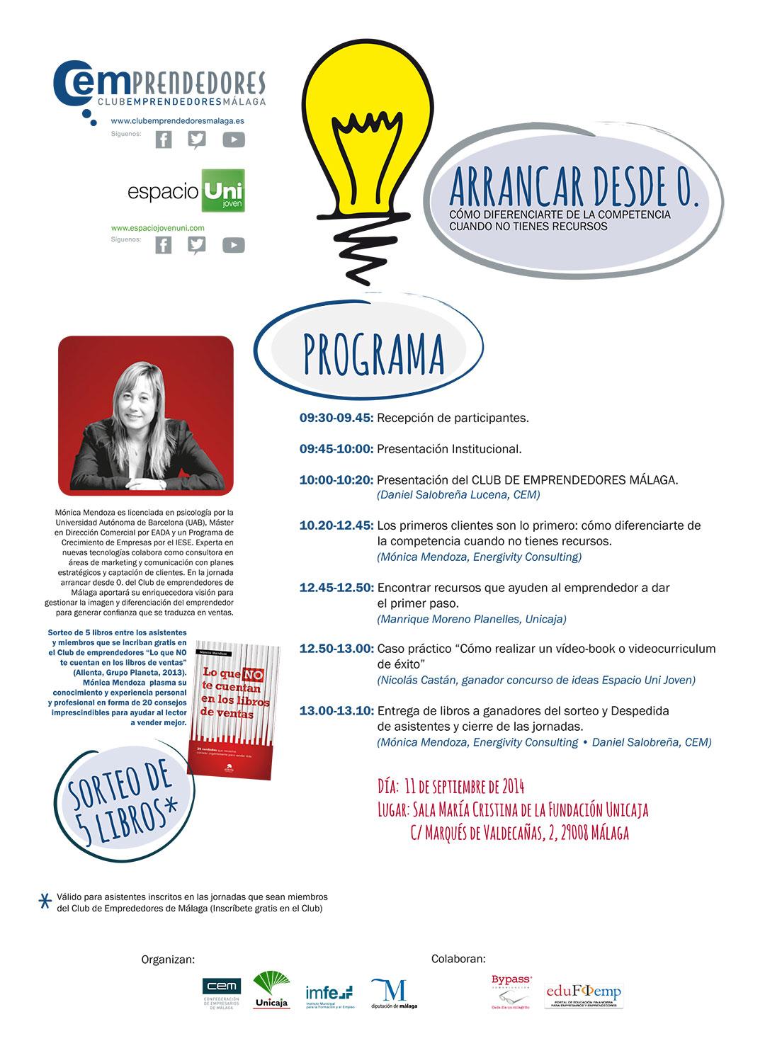 Mónica Mendoza en el Club de Emprendedores de Málaga